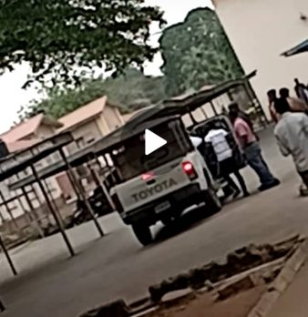 Video of Ui students apprehended for misuse of school properties.