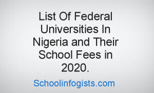 "Picture with the text ""lists of federal universities in Nigeria with their school fees"""