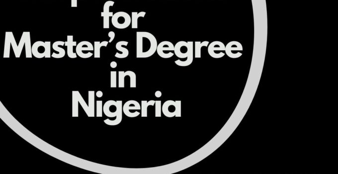 requirements for master's degree in Nigeria